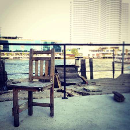 broken chair: Broken chair