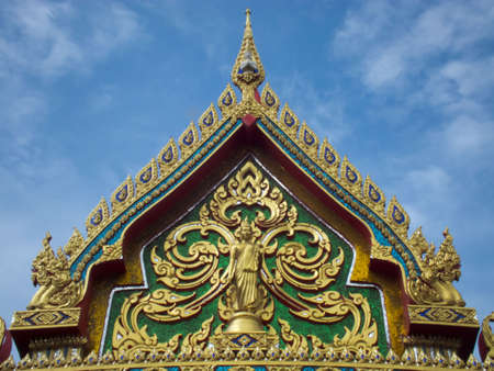 humanistic: Top of Buddha gate in Thai temple Stock Photo