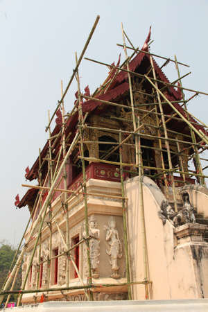 Renovation of Thai temple  photo