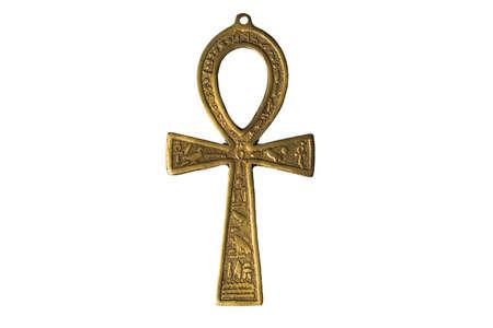 ankh: Egyptian symbol of life Ankh isolated on white background Stock Photo