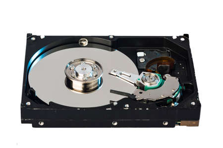harddrive: Inside of internal Harddrive HDD isolated on white background
