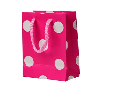 greem: Spotted Pink gift packet isolated on white background.