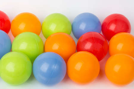 color balls: collection of color balls on white background