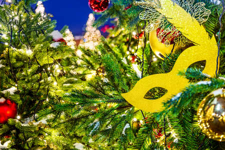Celebration of new year and christmas background details of