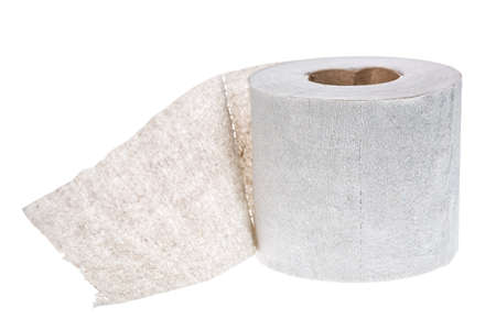 Simple toilet paper roll isolated on white background