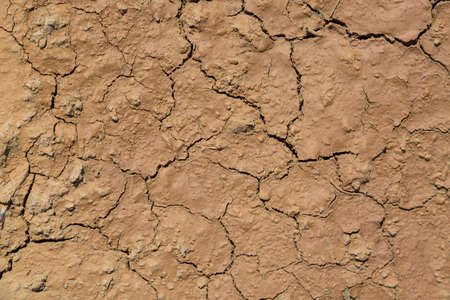 Cracked mud soil ground texture as a background.