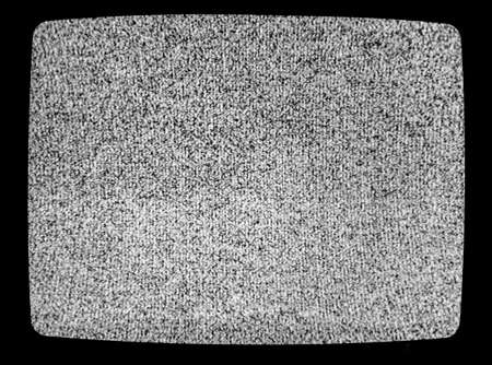 No signal TV texture. Television grainy noise effect as a background. No signal retro vintage television pattern. Interfering signal in analog television Archivio Fotografico - 107268836