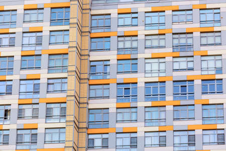 Windows of the modern apartment building. Architecture background or pattern.