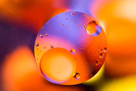Abstract molecule structure. Water bubbles. Macro shot of air or molecule. Abstract background. Space or planets abstract background. Nice colorful gradient background.