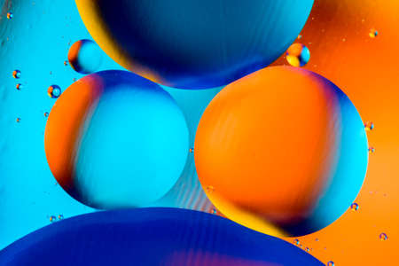 Space or planets universe cosmic abstract background. Abstract molecule sctructure. Water bubbles. Macro shot of air or molecule. Abstract space background. Archivio Fotografico