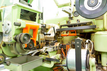 Factory and industrial concept. Technological equipment at factory.