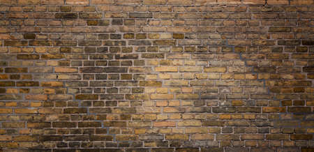 Old brick wall texture background. Vintage grunge architecture or interior design abstract texture Stock Photo