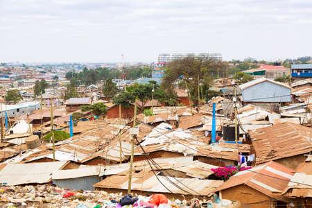 Nairobi, Kenya, Kibera is the biggest slum in Africa and one of the biggest in the world.