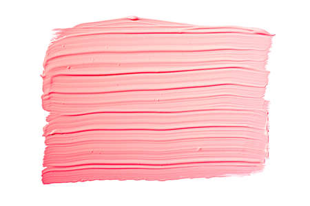 Pink red brush stroke isolated on white background. Pink abstract stroke. Colorful watercolor brush stroke