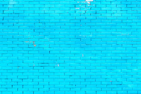 Colorful blue brick wall texture background. Blue brick wall texture architecture pattern