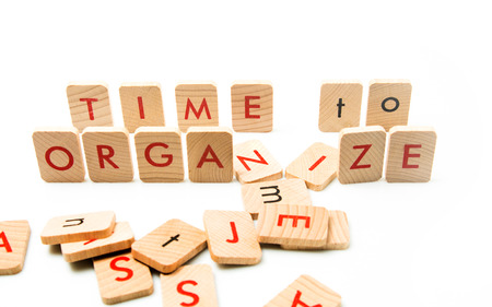 organize: organize your time Stock Photo