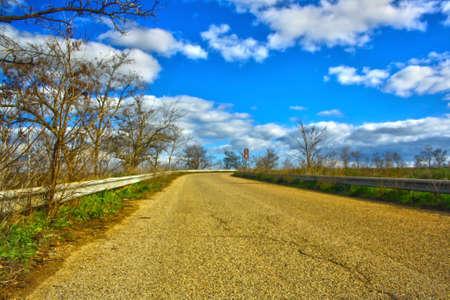 Rural road in Italy 写真素材