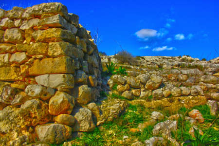 typical dry stone walls in Puglia