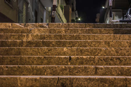 the stairway at night background.