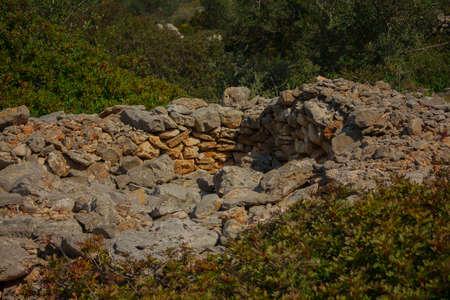 remains of a trullo Archivio Fotografico - 123770380
