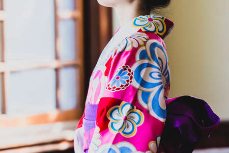 A woman in kimono in her best clothes
