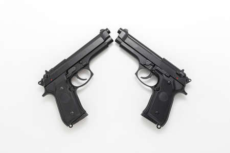 Model gun taken with a white background in the studio