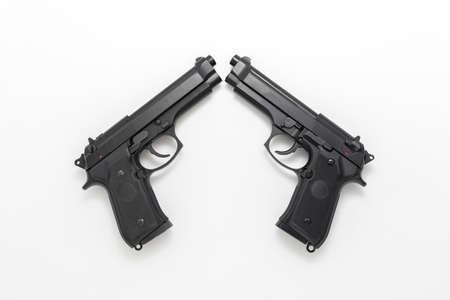 Model gun taken with a white background in the studio Stock Photo