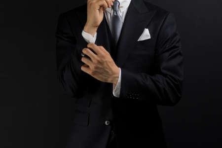 Businessman in a suit taken in the studio