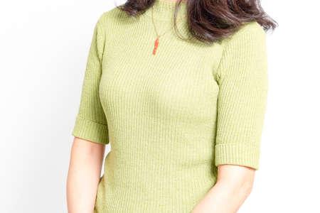 Posing woman photographed in the studio 写真素材