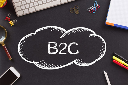 b2c: B2C written on Chalkboard Stock Photo