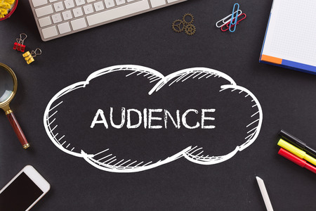 target thinking: AUDIENCE written on Chalkboard