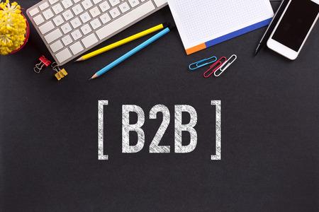 b2b: B2B concepto de pizarra Foto de archivo
