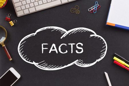 factual: FACTS written on Chalkboard