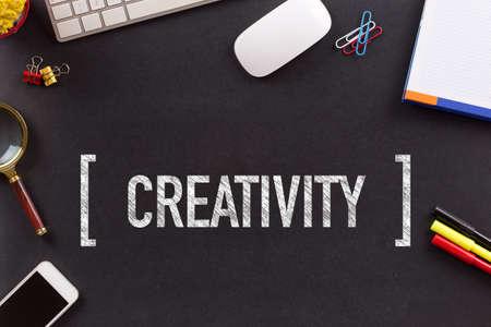 creativity: CREATIVITY CONCEPT ON BLACKBOARD
