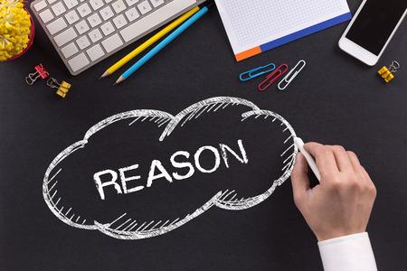 reason: REASON written on Chalkboard