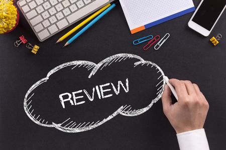 review: REVIEW written on Chalkboard