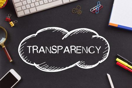 transparency: TRANSPARENCY written on Chalkboard Stock Photo