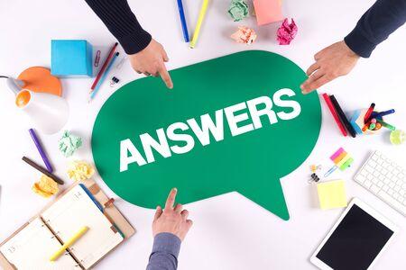 warranty questions: TEAMWORK BUSINESS BRAINSTORM ANSWERS CONCEPT