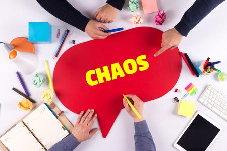chaos: TEAMWORK BUSINESS BRAINSTORM CHAOS CONCEPT