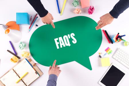 faqs: TEAMWORK BUSINESS BRAINSTORM FAQS CONCEPT