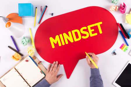 mindset: BUSINESS OFFICE ANNOUNCEMENT COMMUNICATION MINDSET CONCEPT Stock Photo