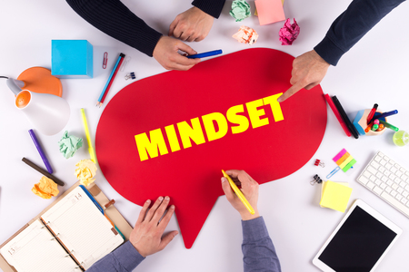 mindset: TEAMWORK BUSINESS BRAINSTORM MINDSET CONCEPT Stock Photo