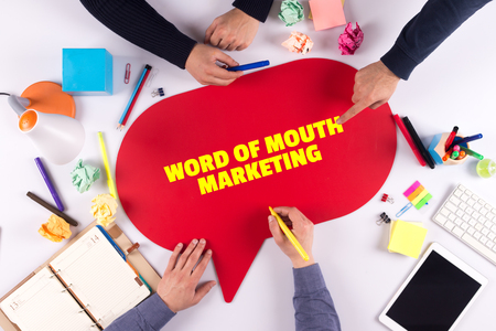 referrer: TEAMWORK BUSINESS BRAINSTORM WORD OF MOUTH MARKETING CONCEPT