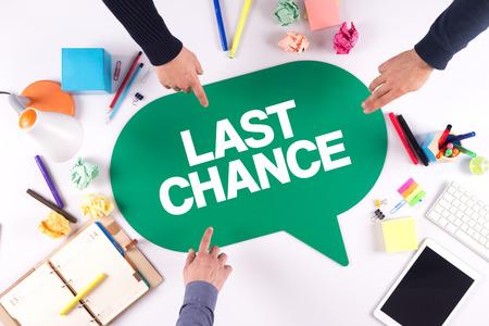 TEAMWORK BUSINESS BRAINSTORM LAST CHANCE CONCEPT