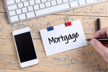 creditworthiness: Paper note with text Mortgage