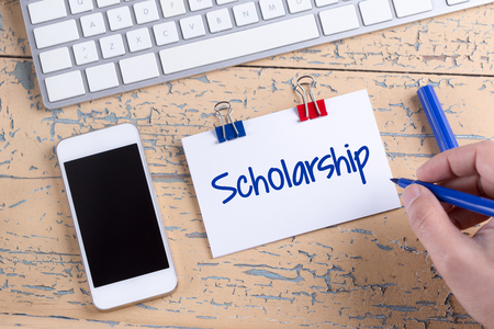 scholarship: Paper note with text Scholarship