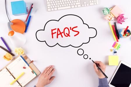 faq's: BUSINESS OFFICE ANNOUNCEMENT COMMUNICATION FAQS CONCEPT