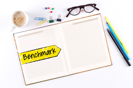 benchmark: Benchmark text on notebook with copy space