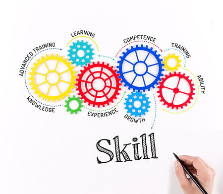 skill: Gears and Skill Mechanism Stock Photo
