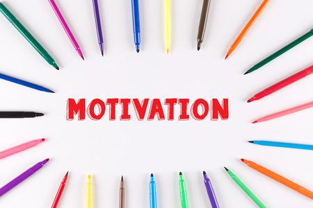 multi colored: Multi Colored Pen written MOTIVATION Stock Photo